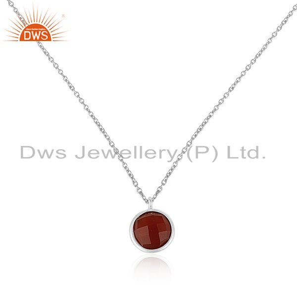 Red Onyx Gemstone 925 Sterling Silver Chain Pendant Wholesale Suppliers