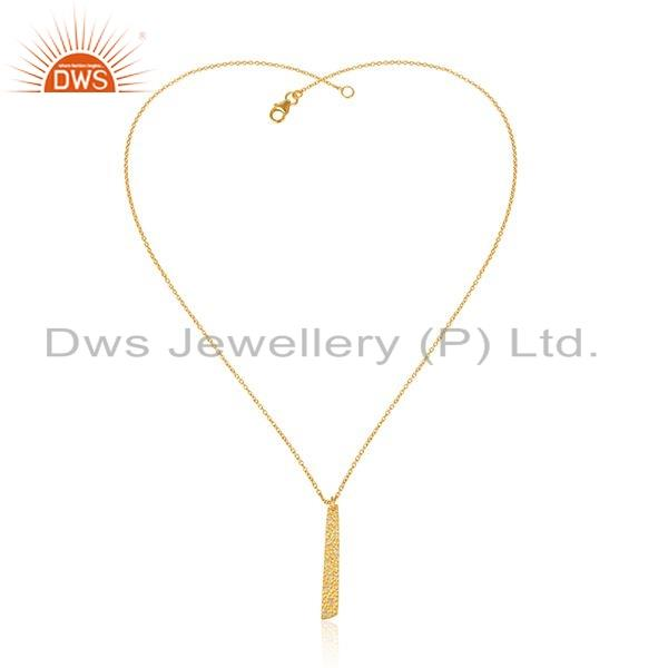 Handamde Yellow Gold Plated Designer Brass Fashion Chain Pendant