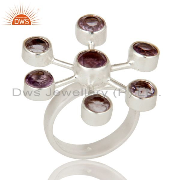 Beautiful Design Solid 925 Silver Natural Amethyst Stunning Ring Fashion Ring