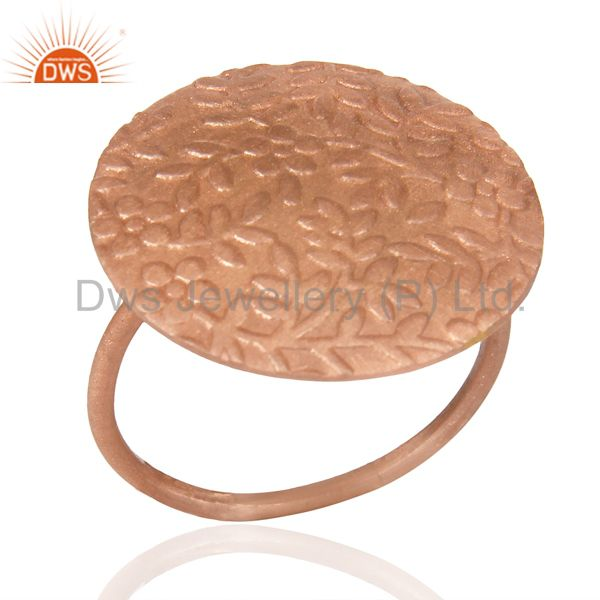 Flower Ring Rose Gold Plated Fashion Sleek Stackable Riing