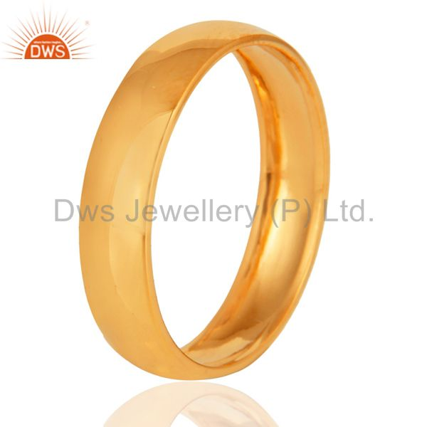 Solid 18K Yellow Gold Highly Finish Engagement / Wedding Band Ring