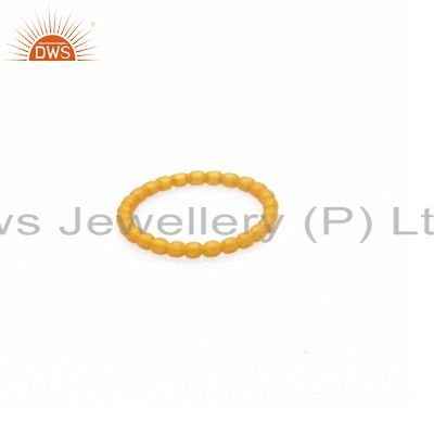 18K Solid Yellow Gold Rope Wedding Engagement Band Ring