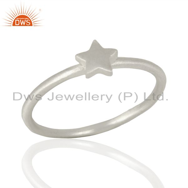 Star Shape Simple And Sleek 92.5 Sterling Silver Wholesale Ring