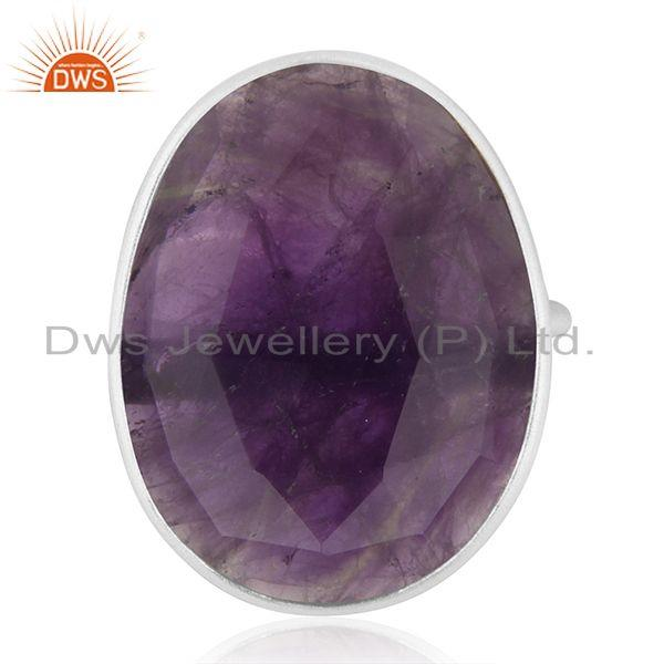 Amethyst Gemstone Handmade 925 Sterling Fine Silver Cocktail Ring Wholesale