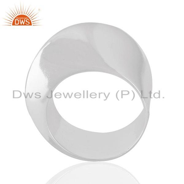 Handmade Solid 925 Sterling Silver Plain Wedding Band Ring Manufacturer India