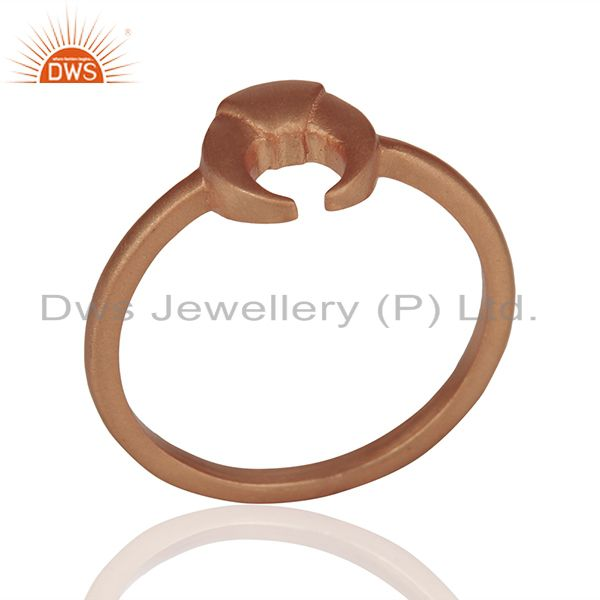 Rose Gold Plated 925 Silver Charm Rings Manufacturer of Jewelry