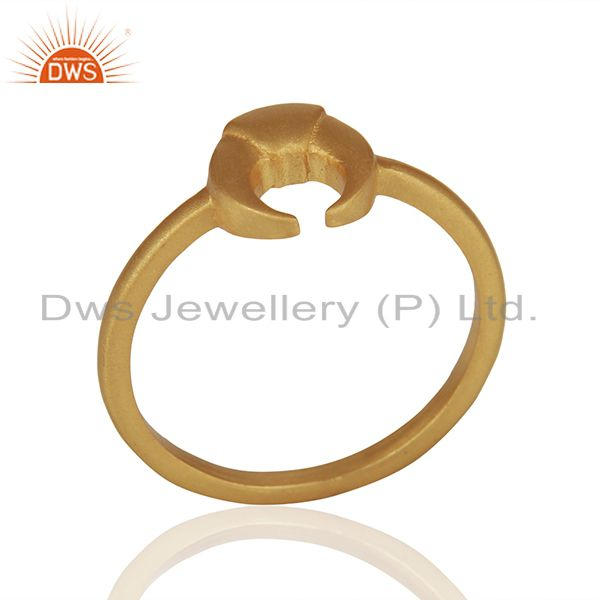 Horse Shoe Charm 925 Silver Gold Plated Rings Manufacturer