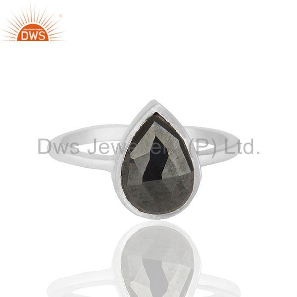 Hematite Gemstone 92.5 Sterling Silver Customized Ring Manufacturers