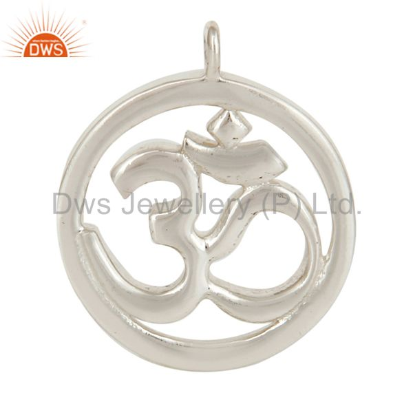 925 Silver Plated Om Charm Jewelry Assesories Finding Spirictual Charm