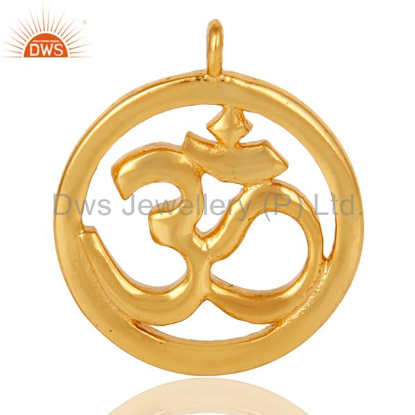 18K Gold Plated Om Charm Jewelry Assesories Finding Spirictual Charm