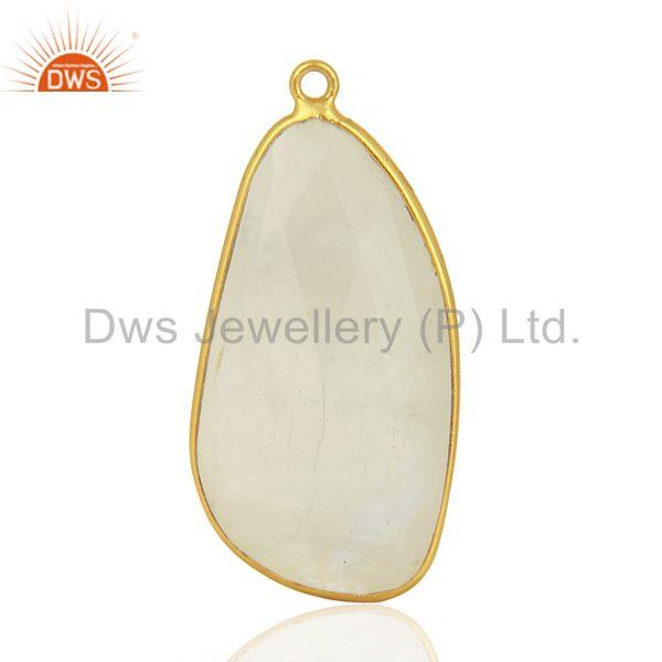 Rainbow Moonstone 925 Silver Gemstone Pendant Connector Supplier