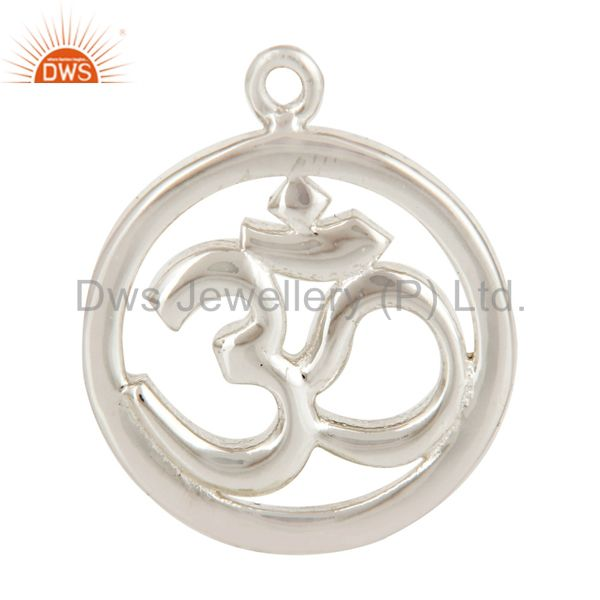 Silver plated om charm jewelry assesories findings