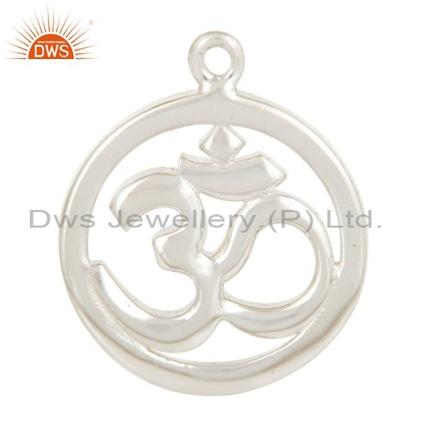 Silver plated om charm jewelry finding jewelry assesories