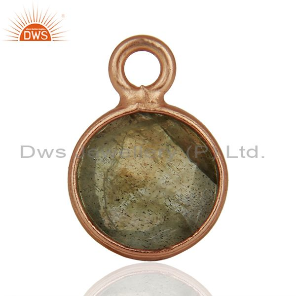 Rose Gold Plated Silver Pendant Connector Gemstone Jewelry Findings