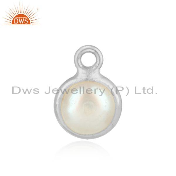 Handcrafted dainty silver 925 jewelry charm with pearl