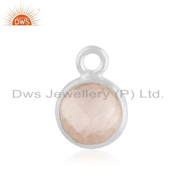 Rose Quartz Gemstone Fine Sterling Silver Charm Jewelry Findings Manufacturer