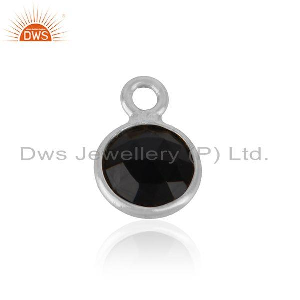 Handmade Jewelry Charm Made of Solid Silver 925 and Black Onyx