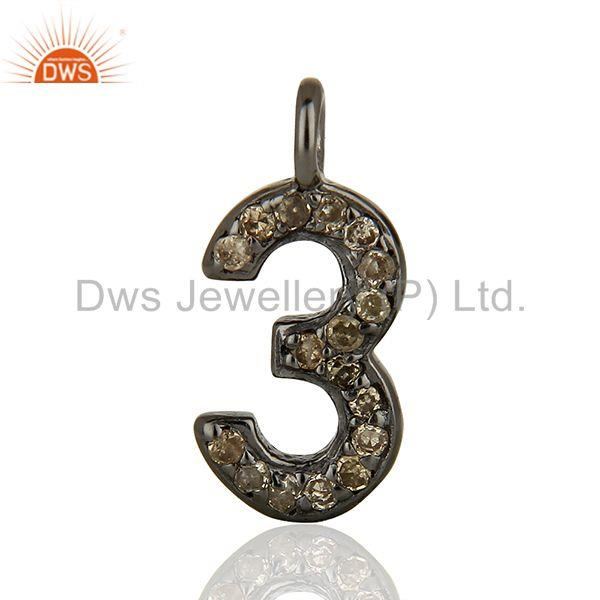 Wholesale Pave Diamond 925 Silver Jewelry Finding Pendant Supplier
