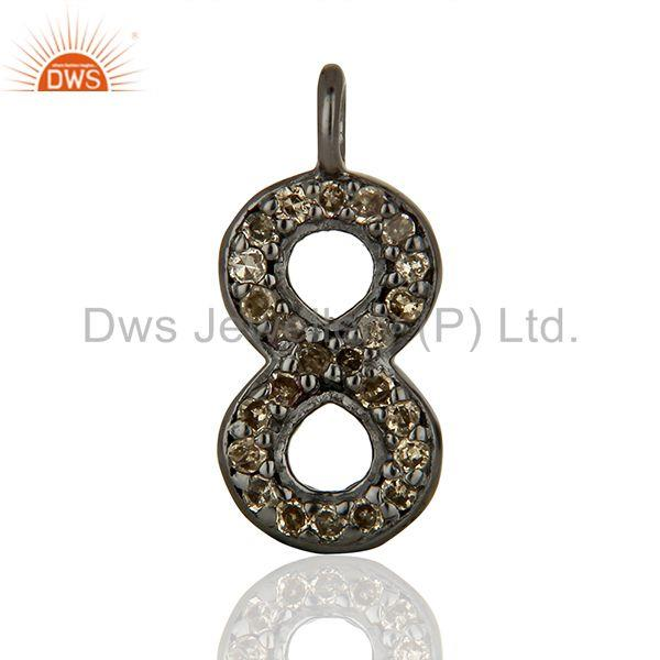 Supplier Pave Set Diamond 925 Sterling Silver Pendant Jewelry Findings