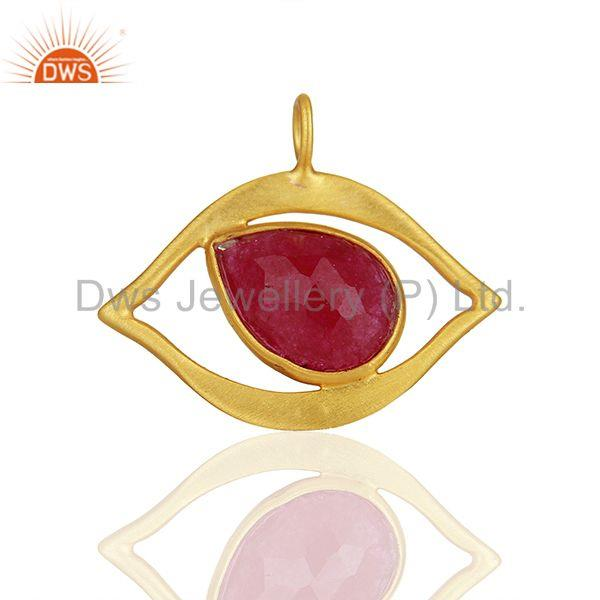 Ruby Gemstone 925 Silver Gold Plated Customized Findings Manufacturer