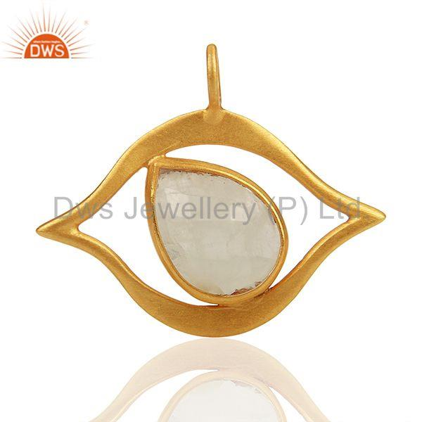 Customized 925 Silver Gold Plated Moonstone Findings Manufacturer