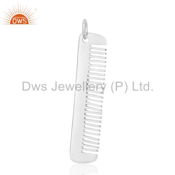 Hair Dresser 925 Sterling Silver Hair Comb Charms Pendant Jewelry