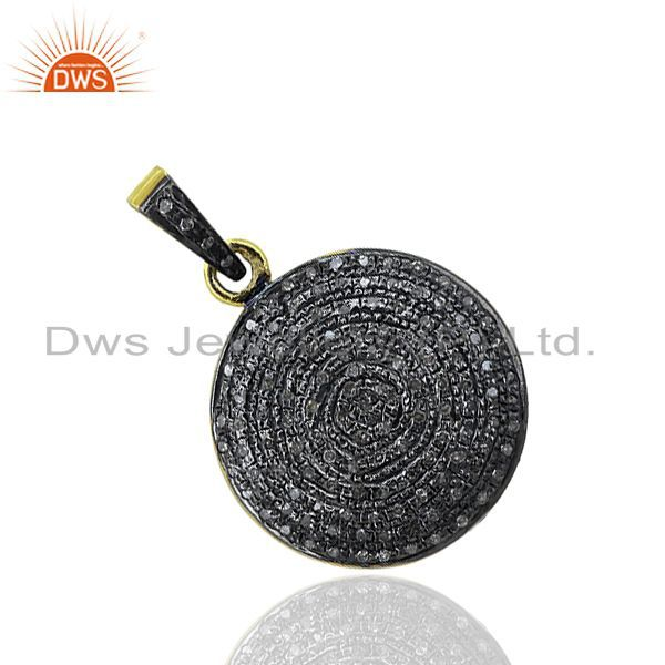 Pave Diamond Customized Pendant Jewelry Findings Manufacturers
