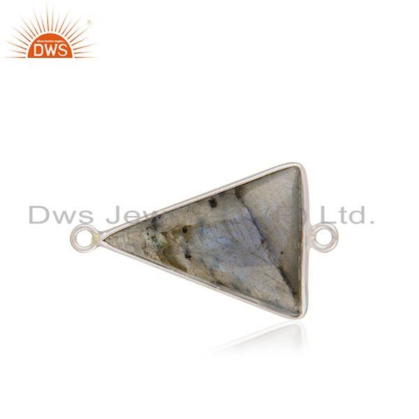925 sterling fine silver labradorite gemstone connector findings manufacturer