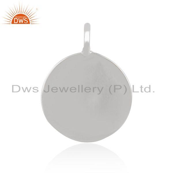 Wholesale 925 sterling plain silver pendant connector jewelry finding