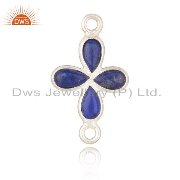Fine silver plated brass fashion lapis lazuli gemstone jewelry findings