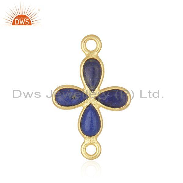 Lapis lazuli gemstone brass fashion connector findings manufacturers