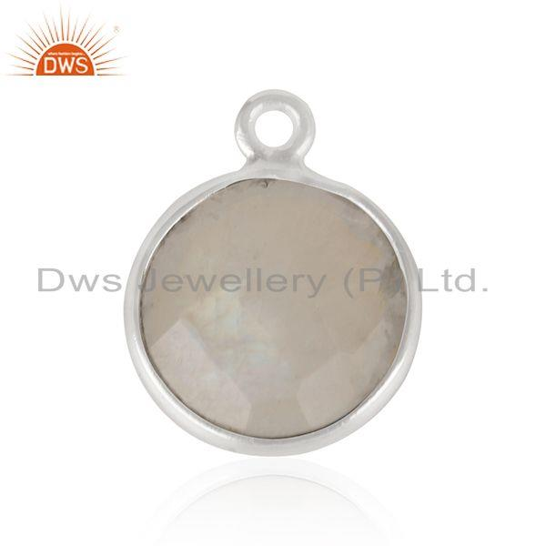Fine sterling silver rainbow moonstone charm jewelry finding suppliers