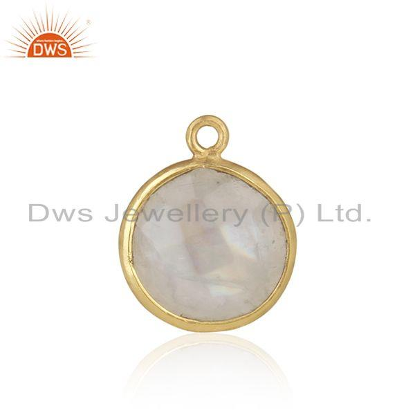 Rainbow moonstone gold plated 925 silver jewelry findings wholesaler
