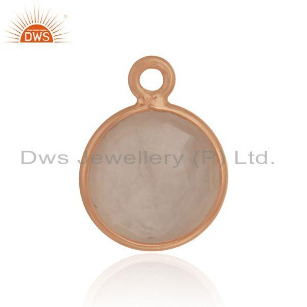 Handmade rose gold plated 925 silver rose quartz jewelry findings