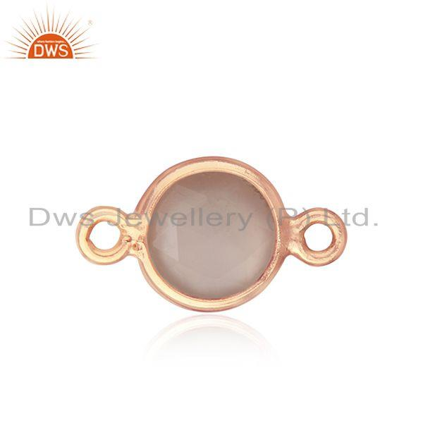 Rose Gold Plated Sterling Silver Gemstone Connector Jewelry Finding