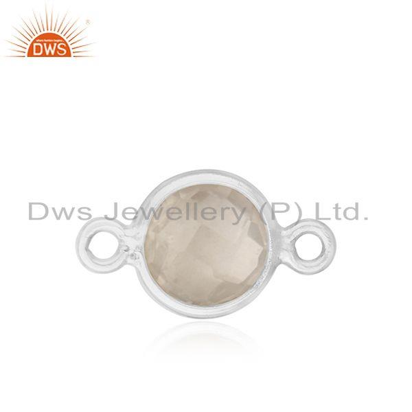 Quartz Gemstone Fine Sterling Silver Connectors Manufacturer
