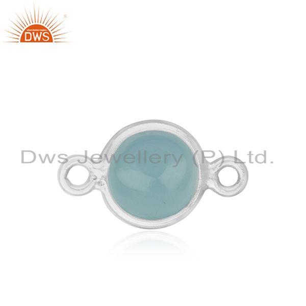 Chalcedony Fine Sterling Silver Gemstone Connectors Wholesale