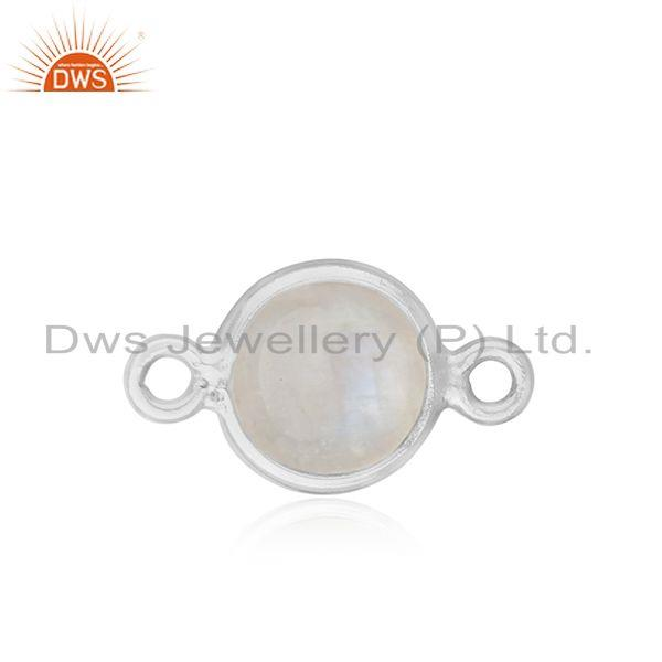 Sterling 925 Silver Rainbow Moonstone Connector Manufacturer