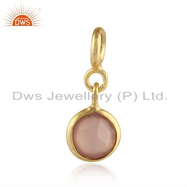 Rose Chalcedony Gemstone Handmade Silver Gold Plated Findings