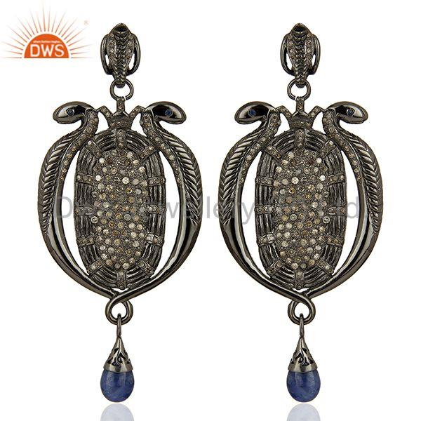 Indian Wedding Designer Pave Diamond Earrings Manufacturer Jewelry