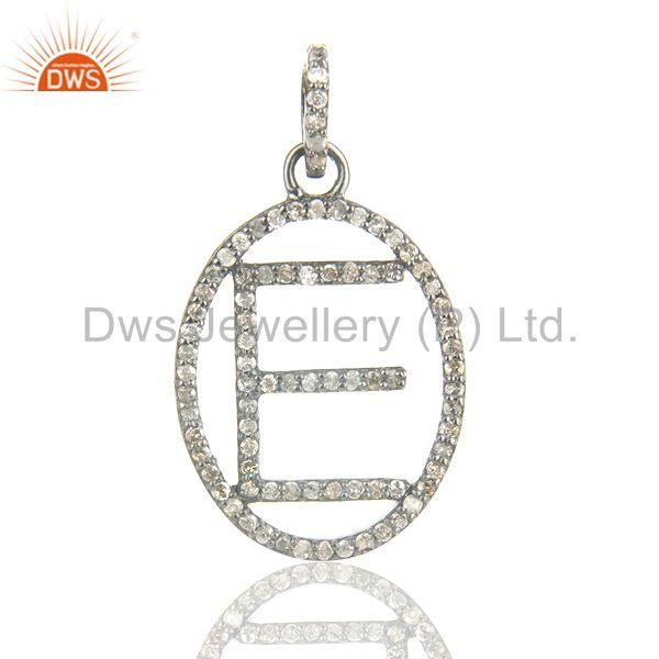 E Initial Customized Pave Diamond Pendant Jewelry Manufacturer