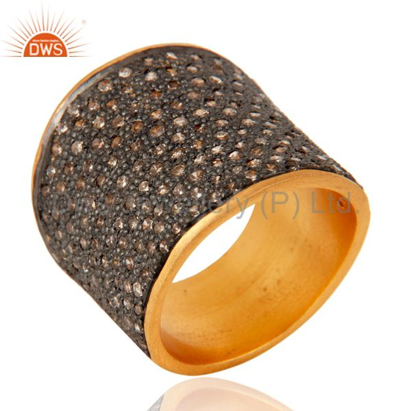 925 Sterling Silver Diamond Pave Fashion Promise Proposal Ring Handmade Jewelry