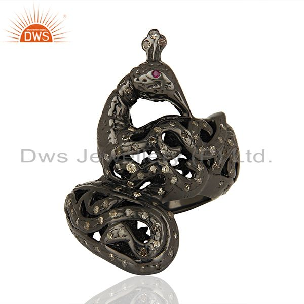 Handmade Pave Diamond Engagement Antique Ring Supplier Manufacturer