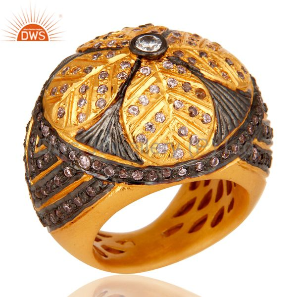 Lovely Traditional Designer with 18k Gold Plated and Multi Color Zircon