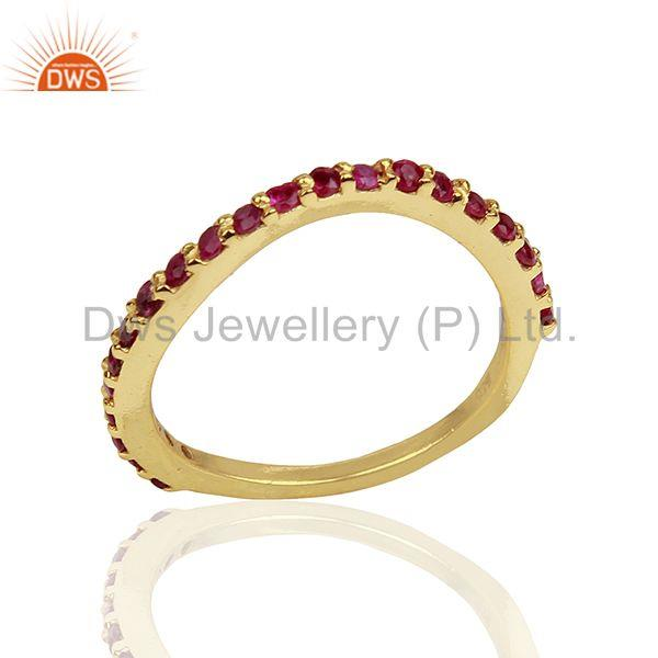 Natural Ruby Gemstone Solid Silver Birthstone Rings Manufacturer