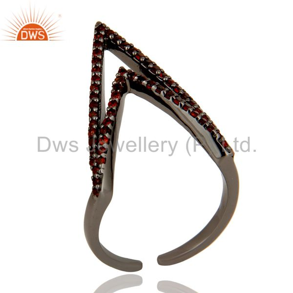 925 Sterling Silver Black Oxidized Handmade Knuckle Finger Midi Ring Jewelry