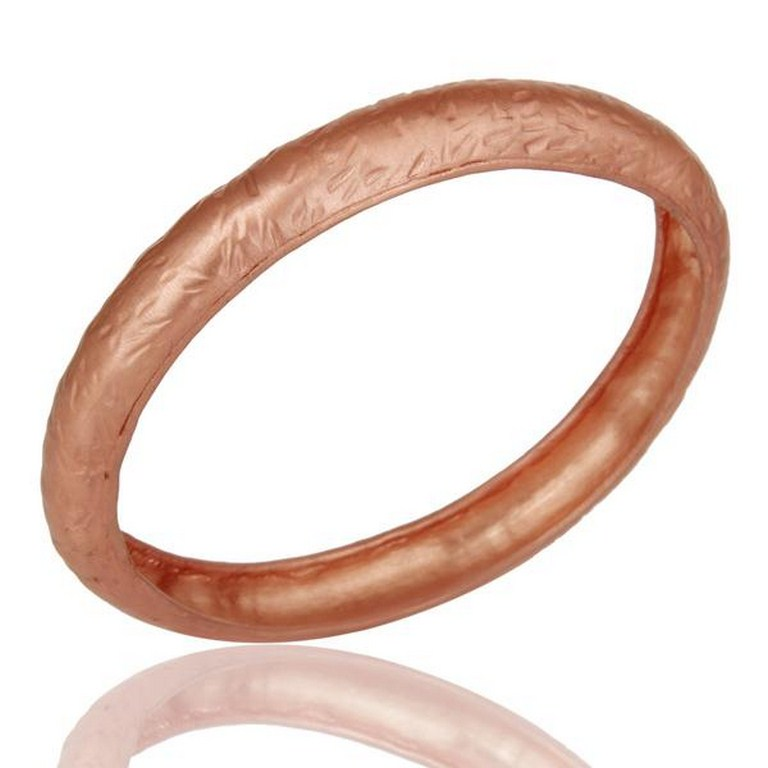 18k Rose Gold Plated Traditional Handmade Design Brass Bangle Jewellery