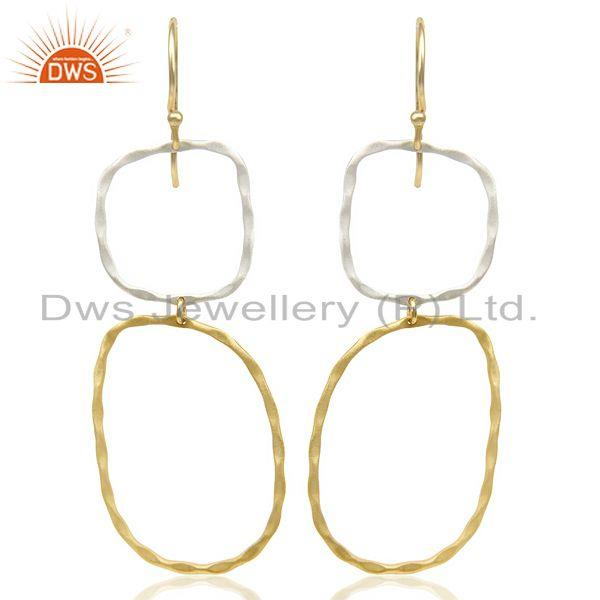 14K Multi Color Plated Traditional Handmade Fashion Design Dangle Earrings