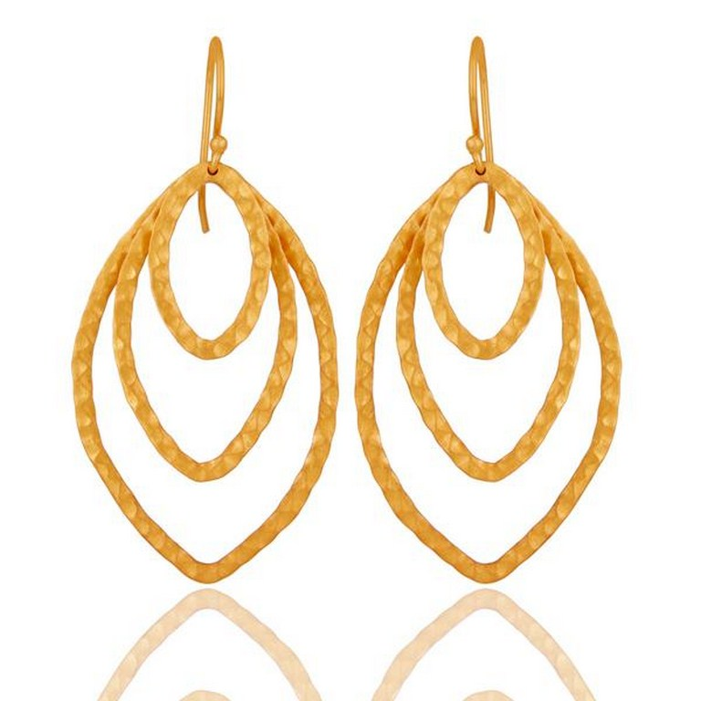18k Gold Plated Indian Handmade Designer Brass Earrings Jewellery