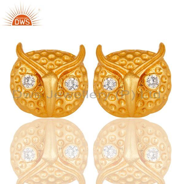 Customized Design Gold Plated Fashion Brass Stud Earrings Manufacturer